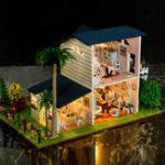 Оригинал iie создать 130-15 Leisurely Stay DIY Кукольный дом с мебельной крышкой Миниатюрная модель Подарочный декор