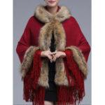 Оригинал Элегантное пальто с капюшоном из натурального меха Женское
