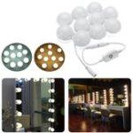 Оригинал 3M Dimmable Hollywood Style Yellow White LED Фонарь зеркало заднего вида для Макияж Туалетный стол DC12V