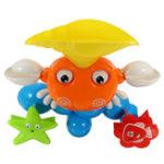 Оригинал Симпатичная крабовая ванна Купающая игрушка Baby Funny Water Game Вращающаяся морская звезда с Sucker