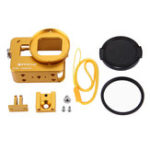 Оригинал PULUZ PU183 Корпус Shell CNC Алюминиевый сплав Защитный чехол для GoPro HERO6 HERO5 с 52 мм UV Объектив