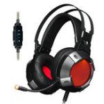 Оригинал Ajazz AX361 Виртуальный 7.1-канальный объемный звук USB-проводной Светодиодный Игровая гарнитура для наушников