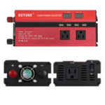 Оригинал XUYUAN1200WАвтоПреобразовательпреобразователяпостоянного тока DC 12V в AC 130V 4 Электронные порты USB
