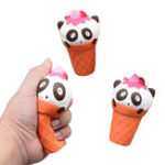 Оригинал 1PC Cute Panda Ice Cream Slow Rise Squeeze Squishy Healing Fun Kids Toy Подарочный стресс Stretch