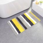 Оригинал Honana CT-043 Microfiber Line Двойные полоски для дверных и домашних ковриков Нескользящий абсорбирующий ковер