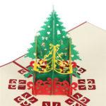 Оригинал Красивыерождественскиеоткрытки3DPopUp серии Handmade Custom Поздравительные открытки Подарки Сувениры Открытки