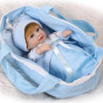 Оригинал 11inch 28cm Reborn Baby Кукла Soft Силиконовый Lifelike Toy Gift для детей Рождественские подарки