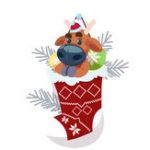 Оригинал Banggood Christmas Носки с 2шт Перезаряжаемый Светодиодный