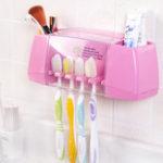 Оригинал Honana BR-848 Многофункциональный держатель для зубных щеток Коробка Ванная комната Принадлежности Крючки для всасывания