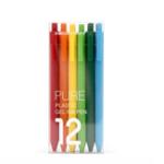 Оригинал 12шт KACO 0.5 мм Rainbow Ручка Точные метки цветов для раскраски Планировщик журналов для книг Примечание.