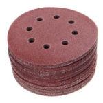 Оригинал 50шт 125 мм 8 отверстий Крюк Шлифовальные круги для шва 40/60/80/100/120 Grit Sander Pad Set