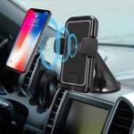 Оригинал 5W QI Wireless Авто Держатель для зарядного устройства, используемый для приборной панели и лобового стекла для iPhone X/iPhone 8 Samsung 8