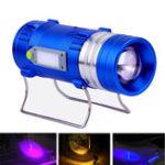 Оригинал XANES600LM4цветныхсветодиода500M Range Масштабируемые Перезаряжаемый светодиод Рыбалка Фонарик Лампа с зарядным устройством