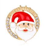 Оригинал Модные рождественские подарки штыри и броши для Женское Маленький колокол Сердце Rhinestone Brooch Female Bijoux
