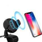 Оригинал QI Wireless Charger Авто Держатель панели приборов HUD для iPhone X iPhone Plus Samsung