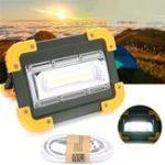 Оригинал 30W Портативный USB аккумуляторная COB LED Кемпинг Свет На открытом воздухе Рабочая пятно света для Рыбалка Пешие прогулки