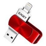 Оригинал Eaget i66 USB 3.0 Lightning OTG USB Flash Drive 64G Шифрование Ручка Драйвер для iPhone