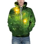 Оригинал Unisex 3D Hoodies Sweatshirt Gift Green Forest Pullover Повседневный с капюшоном Спортивный костюм Drawstring Sweater