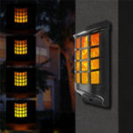 Оригинал Солнечная Мощность Водонепроницаемы 66 LED Светодиодный огненный пламенный настенный светильник На открытом воздухе Сад Двор Лампа