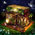 Оригинал T-Yu TD19 Цветочный танцевальный дом DIY Кукольный домик с обложкой Коллекция подарков для подарков
