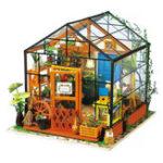 Оригинал Представьте себе 3D DIY Модель дома Набор Парниковый миниатюрный Светодиодный Кукольный дом Build Toy