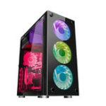Оригинал Игровые ATX Black Mid Компьютерные корпуса для ПК Tower LED Fan USB Window