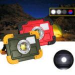 Оригинал 30W COB 4 Mode LED Портативный USB аккумуляторная вспышка Light Spot Hiking Camping Outdoor Work Lamp