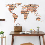 Оригинал DIY Съемный стикер стены Art World Map Mural Decal Room Home Decor