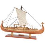 Оригинал DrakkarДраконVikingSailboatAssemblyМодель Набор Лазер Процесс резания DIY Игрушка