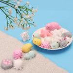 Оригинал Розовый Белая морская звезда Моти Squishy Squeeze Исцеляющая игрушка Kawaii Collection Stress Reliever Gift Decor