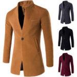 Оригинал Мужской бизнес One Подставка для столовой подставки Тонкий Fit Wool Jacket