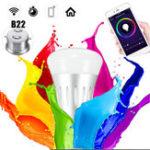 Оригинал B22 11W RGBW Wifi Управление приложениями LED Умная лампочка работает с Echo Alexa Google Главная AC85-265V