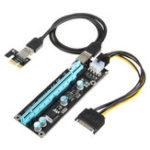 Оригинал VER 006C 0.6m USB 3.0 PCI-E Express 1x до 16x Extender Riser Board Card Adapter Mining Power Supply