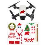 Оригинал DIY Набор наклеек для рождественских наклеек Декоративные наклейки для DJI Spark Mavic Pro Phantom 4 Pro / 3 SE Дрон