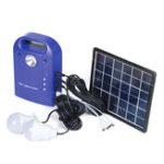 Оригинал 28Wh Портативный малый DC Солнечная Панели Зарядный генератор Система питания с лампой LED