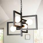 Оригинал E27 4 головки Industrial Кулон Светильник потолочный потолочный Лампа для кухонного помещения Office AC110-250V