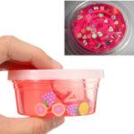 Оригинал Слизь 4 унция Очистить Розовый Фруктовый салат Слизь Фимо-кусочек Кристально чистая игрушка-шпаклевка