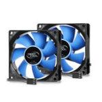 Оригинал DEEPCOOL CPU Cooler с 6 тепловыми трубками Двойные радиаторы и 80-миллиметровые вентиляторы с двойным вентилятором Quiet Cooler