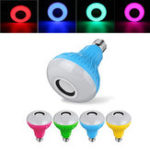 Оригинал E27 12W RGBW Bluetooth Музыка Воспроизведение LED Умная лампочка с Дистанционное Управление для вечеринки AC100-240V