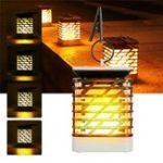 Оригинал Солнечная Работающий мерцающий пламенный свет 75 LED На открытом воздухе Стена Лампа На открытом воздухе Сад Дерево Украшение