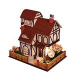 Оригинал iiecreate K-013 Flower Town DIY Кукольный дом с мебельной мебелью