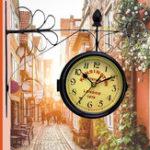 Оригинал Винтаж Ретро Творческий Средиземноморский стиль Двойная стена Часы Декор Главная