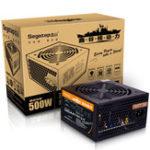 Оригинал Segotep F7 500W ATX Компьютерный блок питания Настольный игровой блок питания Active Вентилятор PFC 120 мм 86% Эффективность