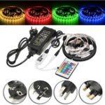 Оригинал 5M 60W SMD5050 Не водонепроницаемый RGB LED Strip Light + WiFi-контроллер + Дистанционное Управление + адаптер DC12V
