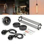 Оригинал  Double Headed Industrial Retro Винтаж Кулон Лампа Кухонный бар Потолочный светильник AC110-240V