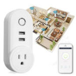 Оригинал US Plug 110-230V 1250W WIFI Assistant 2 USB Alexa Voice Control APP Smart Разъем Зарядное устройство