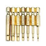 Оригинал BROPPE 7Pcs Gold 50mm 1.5-6.0mm Магнитная шестигранная головка Отвертка Биты 1/4 дюймов Hex Shank Отвертка