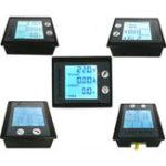 Оригинал PZEM-001 AC 80-260V 10A 2200W Измеритель мощности Цифровой вольтметр Текущий измерительный прибор Монитор Модуль STN LCD Синий экран подсветки 360 градусо