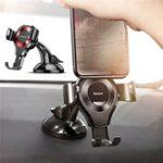 Оригинал Baseus Gravity Auto Замок Suction Авто Вращатель для телефона Авто Гора Stand Holder для iPhone Samsung