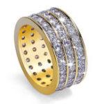 Оригинал Punk Unisex Gold Plated  Кольцо с круглым кольцом